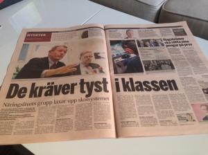"""Dagens Industri 23 juni """"De kräver tyst i klassen"""""""